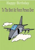 Air Force Person - Greeting Card